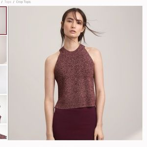 Aritzia Wilfred Crevier knit top sleeveless small